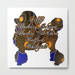 Royal Poodle Founders Metal Print
