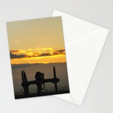 Sunrise on a foggy Battlefield Stationery Cards