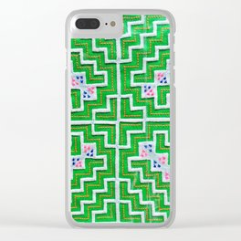 Green hmong Clear iPhone Case