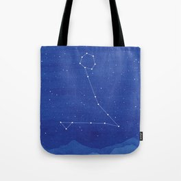 Pisces Constellation, mountains Tote Bag