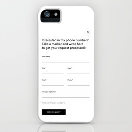 white request form iPhone Case