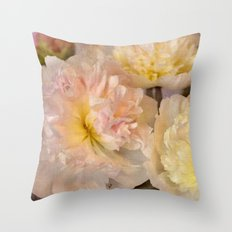 Blush Softly  Throw Pillow