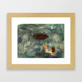 Slipping Under Framed Art Print