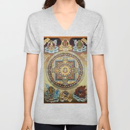 Hindu Buddhist Mandala 20 Unisex V-Neck