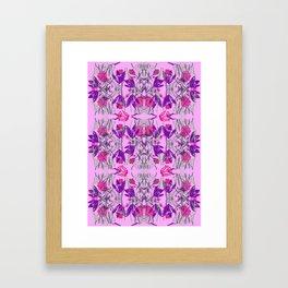 kaleidoscope florals Framed Art Print