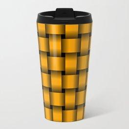 Orange Weave Travel Mug
