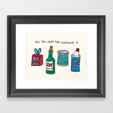 all you need for christmas is... Framed Art Print