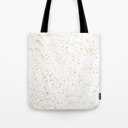 Pretty White and Gold Speckled Pattern Tote Bag