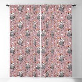 Mushroom Pickers - Lady Woodpecker Blackout Curtain