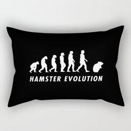 Funny Hamster Evolution Pun Quote Sayings Rectangular Pillow