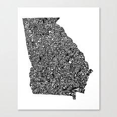 Typographic Georgia Canvas Print