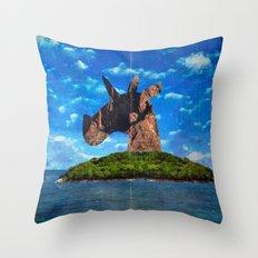 Island Head Unicorn Throw Pillow
