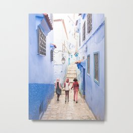 Sunny days Ahead - Chefchaouen, Morocco - The Blue City Metal Print