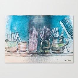 The Artist's Shelf Canvas Print