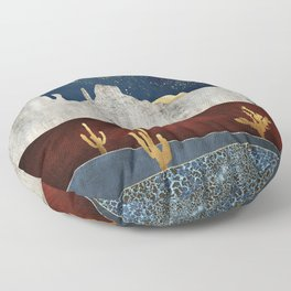 Moonlit Desert Floor Pillow