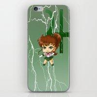 sailor jupiter iPhone & iPod Skins featuring Sailor Jupiter by artwaste