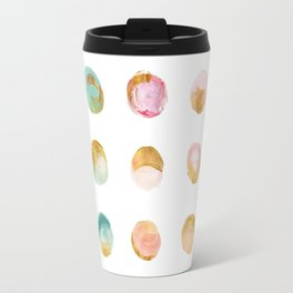 Painted Dots & Gold Travel Mug