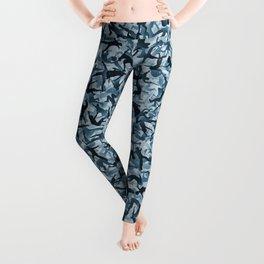 Falling humans camouflage Leggings