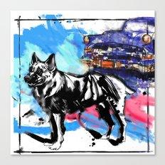 German Shepherd pop art Canvas Print
