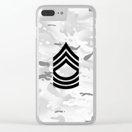Master Sergeant (Winter Camo) Clear iPhone Case