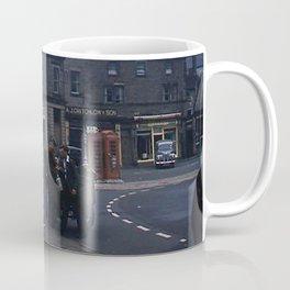 Vintage England * 1950's * Milk Cart * Delivery * Kodachrome * Horse * Car * Kiosk Coffee Mug