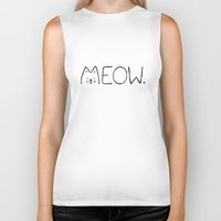 meow Biker Tanks featuring meow. by Janko Illustration