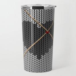Original Knitted Heart Design Travel Mug