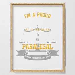 I'm A Proud Husband Of Awesome Paralegal Barrister Legal Assistant Paraprofessional Gift Serving Tray