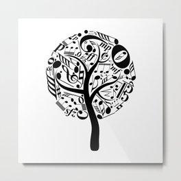 Music tree Metal Print