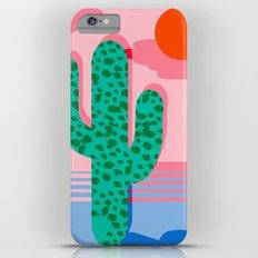 No Foolin - retro throwback neon art design minimal abstract cactus desert palm springs southwest  Slim Case iPhone 6 Plus