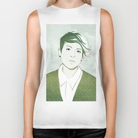 tegan and sara Biker Tanks featuring Tegan by GirlApe