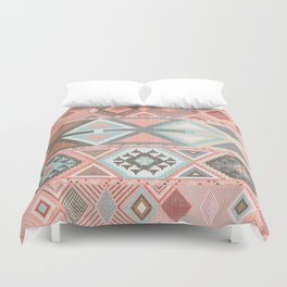 Aztec Artisan Tribal in Pink Bettbezug