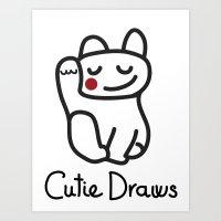 Cutie Logo Tshirt Art Print