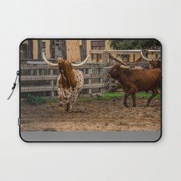 Frolicking Longhorns Laptop Sleeve
