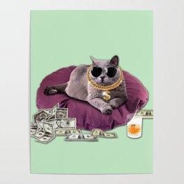 GANGSTA CAT Poster