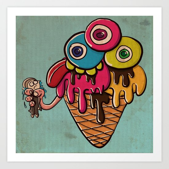 Ice Scream Art Print