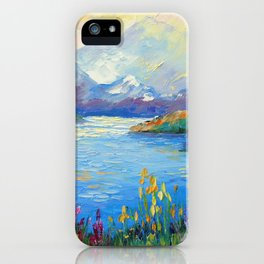 Lake in the Alps iPhone Case