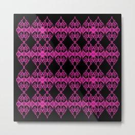 Luxury mandalas pink etnic Metal Print