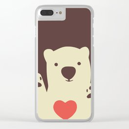 Hearty bear paws Clear iPhone Case