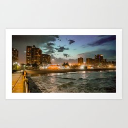 Durban sunset in KwaZulu Natal, South Africa Art Print