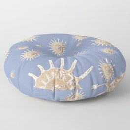 Solaris on Blue by Chrissy Wild Floor Pillow