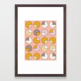 Pie Pink Framed Art Print