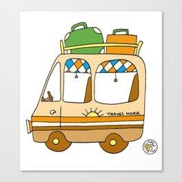 campervan vanlife vintage camping Canvas Print