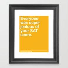 SAT Score Framed Art Print
