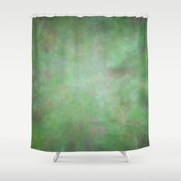 Abstract Watercolor Blend 3 Deep Dark Green and Light Green Shower Curtain