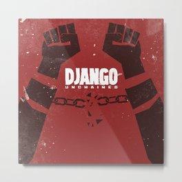 Django Unchained, Quentin Tarantino, minimalist movie poster, Leonardo DiCaprio, spaghetti western Metal Print