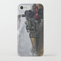 ashton irwin iPhone & iPod Cases featuring Rood Ashton Hall steam locomotive by PICSL8