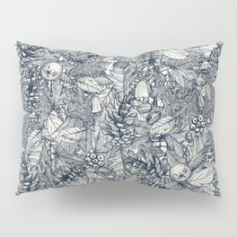 forest floor indigo ivory Pillow Sham