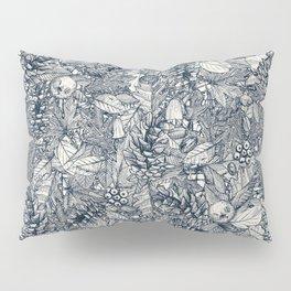 forest floor indigo ivory Pillow Sham