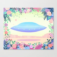 Floral UFO 1 Canvas Print